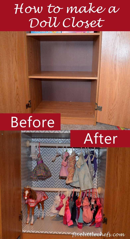 How To Make A Doll Closet Doll Closet Doll Storage