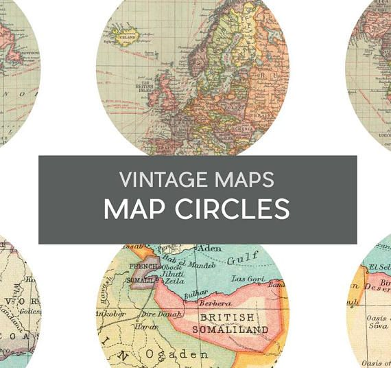 Printable map circlesntage maps planner sticker maps vintage printable map circlesntage maps planner sticker gumiabroncs Gallery