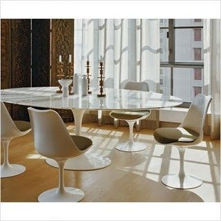 tulip table and chairs uk eames lounge chair marble carrera oval 199cm saarinen style bauhaus