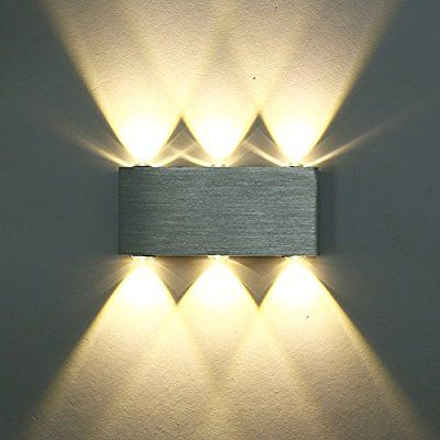 Lightess 6W Modern LED Wall Light Up Down Wall Lights Wall Lamp For Living Room  Bedroom