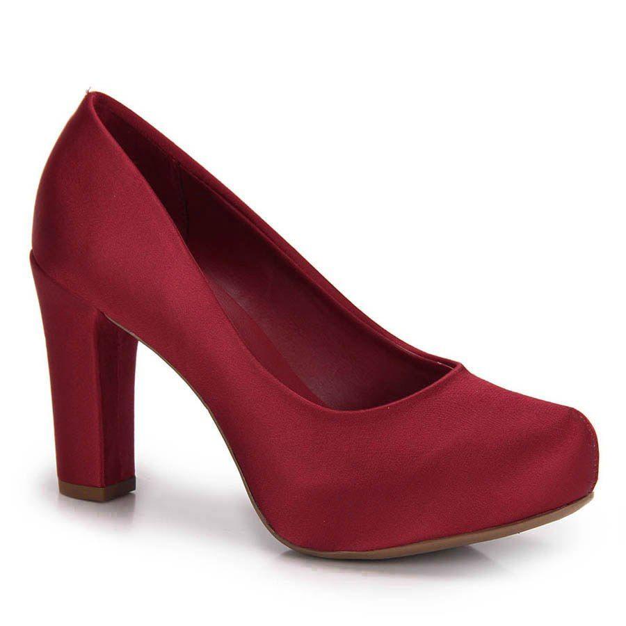 09e63538c Sapato Salto Grosso Lara - Moda Online
