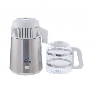 Water Distiller With White Dome Stainless Steel Countertops Distilled Water Pure Products