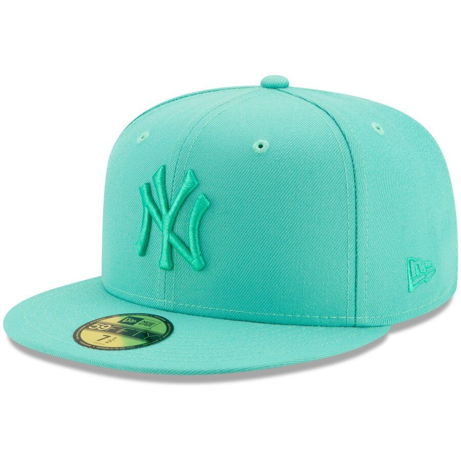 Men S New York Yankees New Era Mint Spring Color Basic 59fifty Fitted Hat Fitted Hats Spring Colors New Era