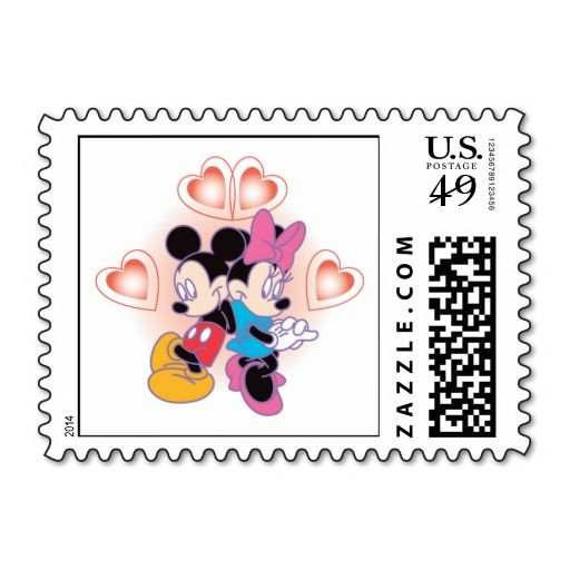 Minnie and Mickey Love Postage Stamps http://www.zazzle.com/minnie_and_mickey_love_postage_stamps-172900005270577853?rf=238194283948490074&tc=pfz #love #mickeymouse #minniemouse #valentinesday #classiccharacters #disney #hearts #postagestamps #zazzle