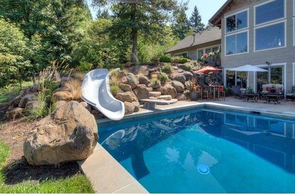 31 tolle ideen fr einen pool mit rutsche herrlich pool rutsche selber bauen krippe in 2019. Black Bedroom Furniture Sets. Home Design Ideas
