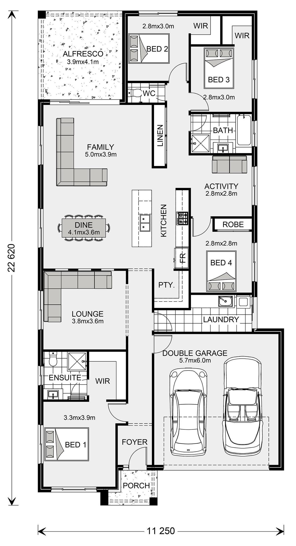 Bridgewater 225 Home Designs In Launceston G J Gardner Homes New House Plans Home Design Floor Plans Vintage House Plans