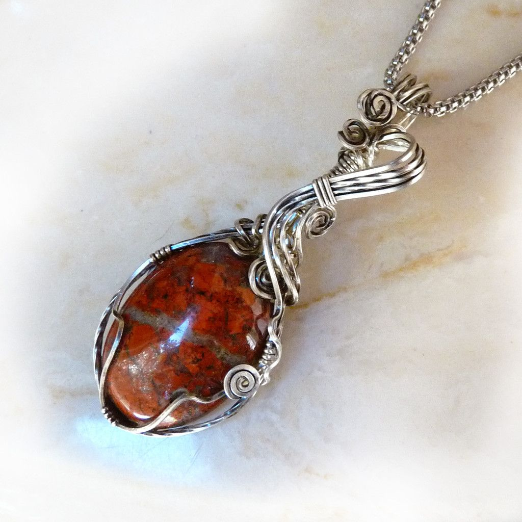 Indian River Jasper Wire Wrapped Pendant   Wire wrapping, Jasper and ...