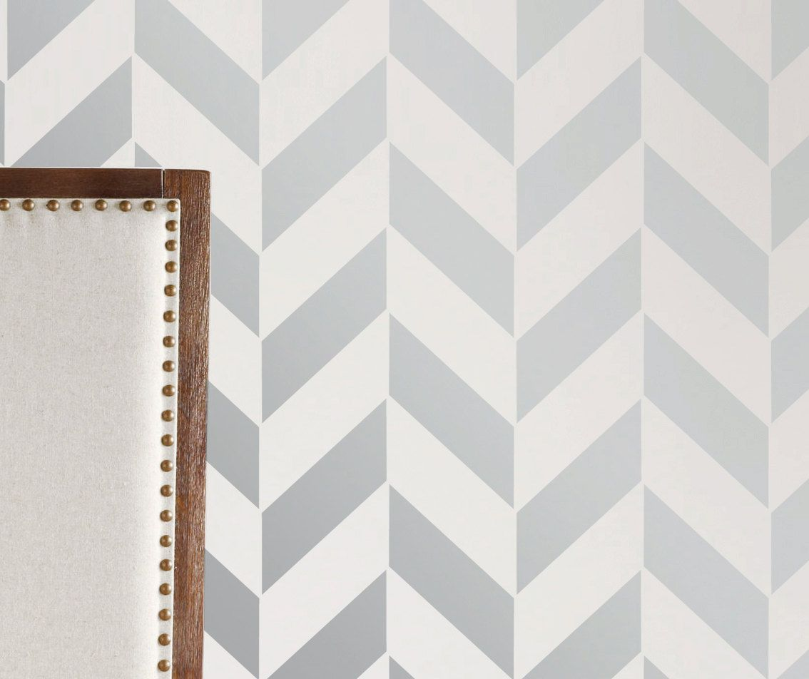 Wall painting stencils printables - Accent Wall Idea For Nursery Wall Stencil Geometric Arrow Chevron Zig Zag Pattern Wall Room Decor Made By Omg Stencils Home Improvements Color Paintings