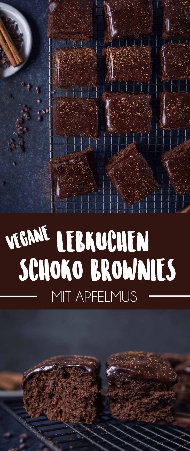 Weihnachtliche Schoko-Lebkuchen Brownies mit Glasur | Vanillacrunnch | Food & Lifestyle Blogger