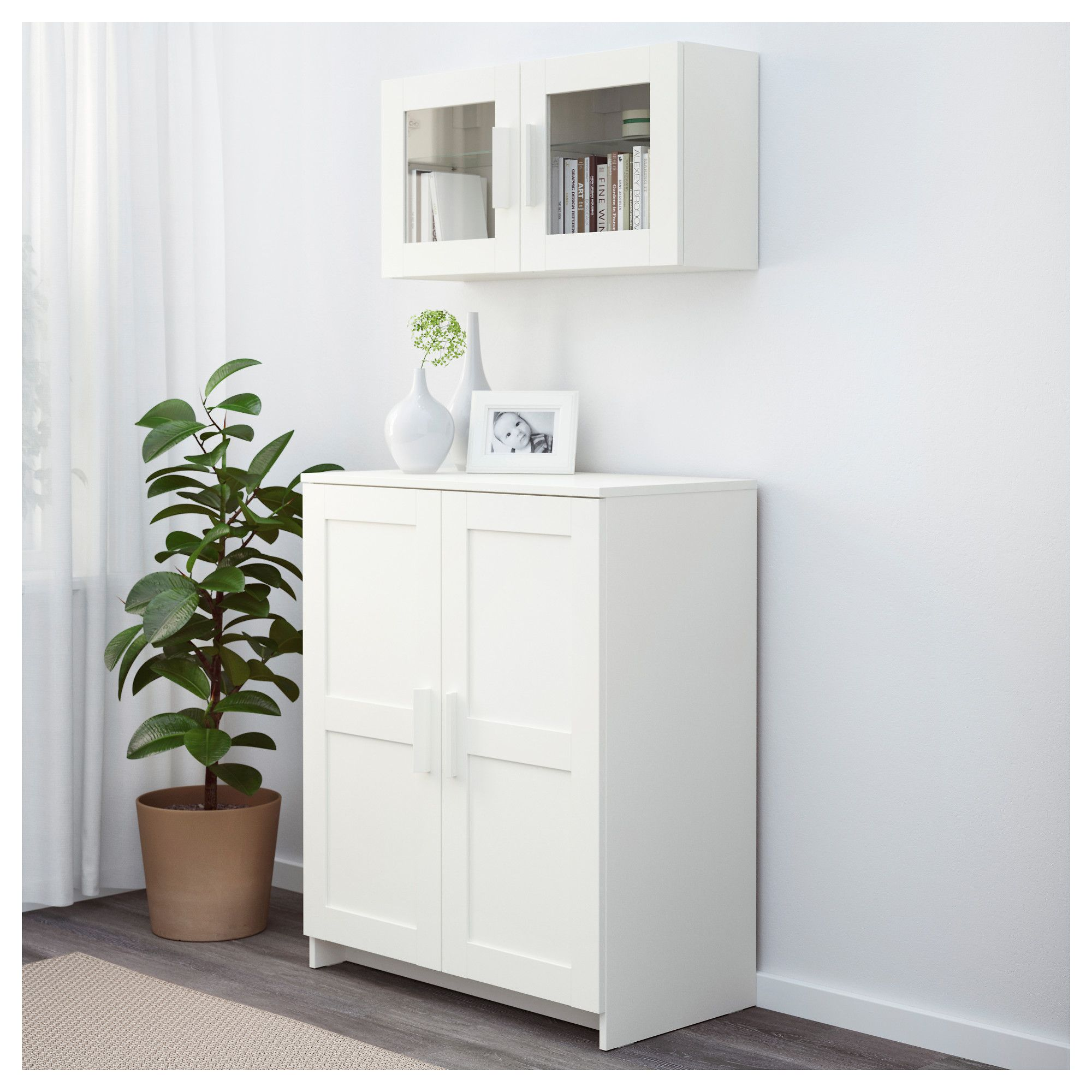 brimnes cabinet with doors white 78 x 95 cm. Black Bedroom Furniture Sets. Home Design Ideas