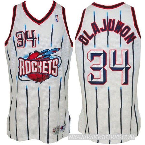 superior quality bfa34 46b92 Houston Rockets #34 Hakeem Olajuwon Hardwood Classics ...