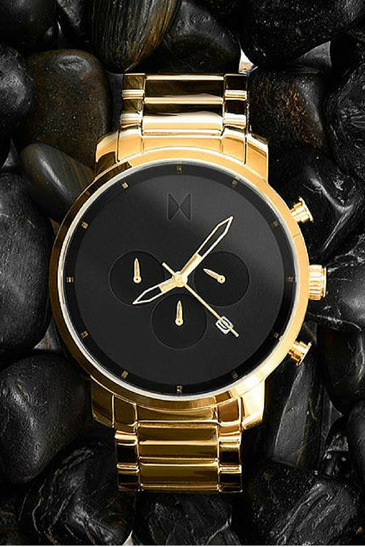 Chrono black gold link in menus watches pinterest watches