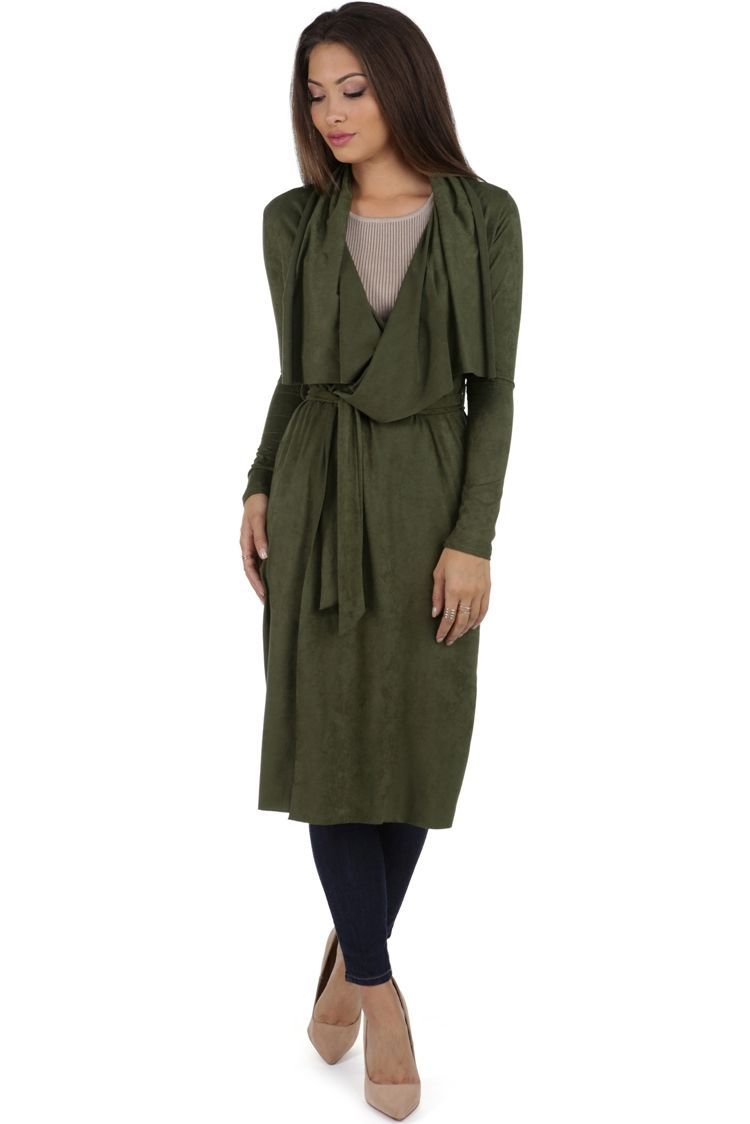 Olive Per Suede Me Trench   WindsorCloud