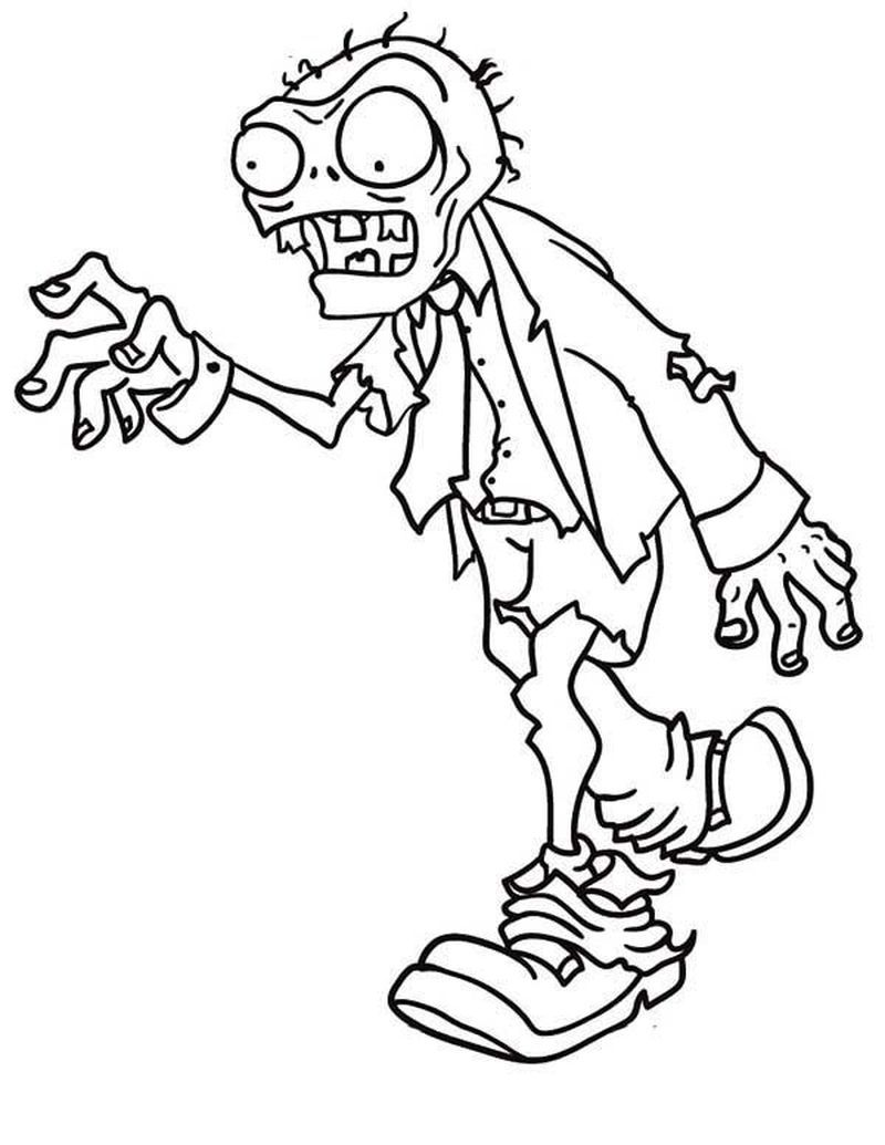 Have A Fun With Zombie Coloring Pages Disney coloring