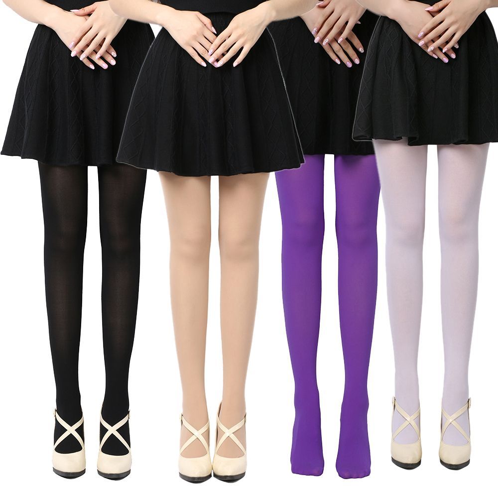 Women Warm Thick Pantyhose Socks Opaque Footed Foot Tights Hosiery Stockings