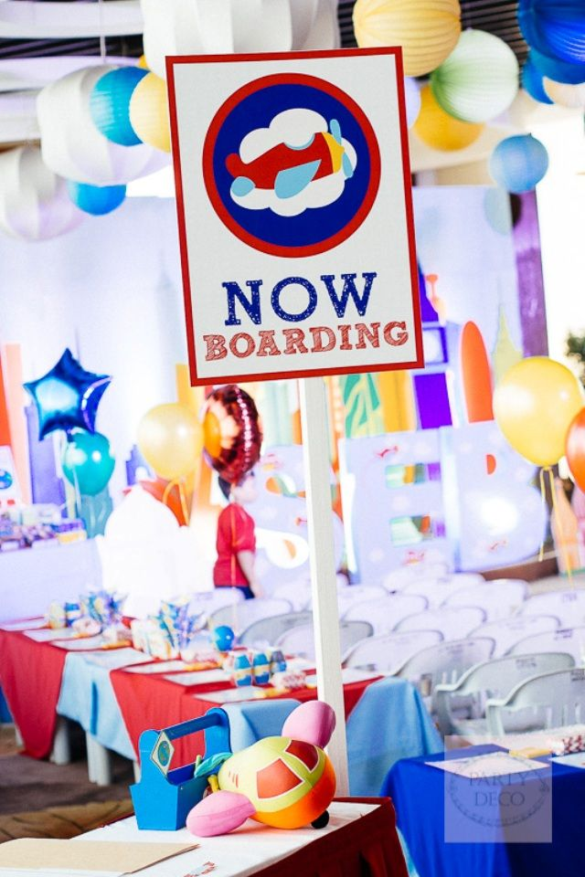 Sebastians Airplane Themed Party 1st Birthday Themed parties