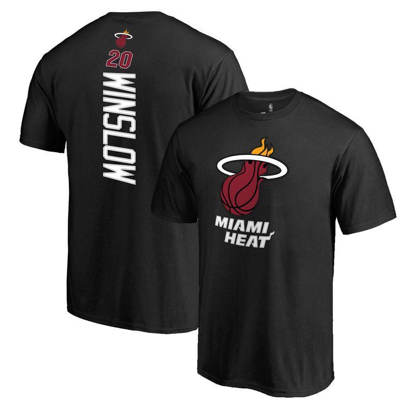 Justise Winslow Miami Heat Big & Tall Backer T-Shirt - Black