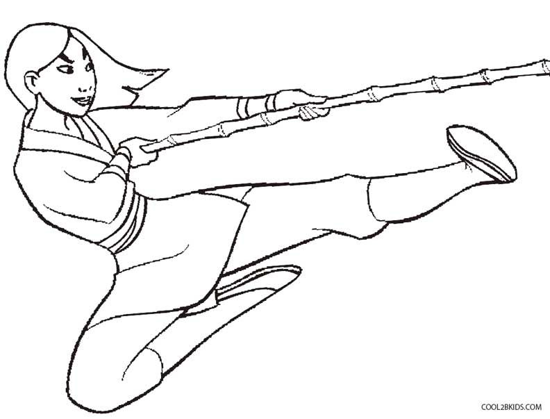 Printable Mulan Coloring Pages For Kids | Cool2bKids | Disney ...