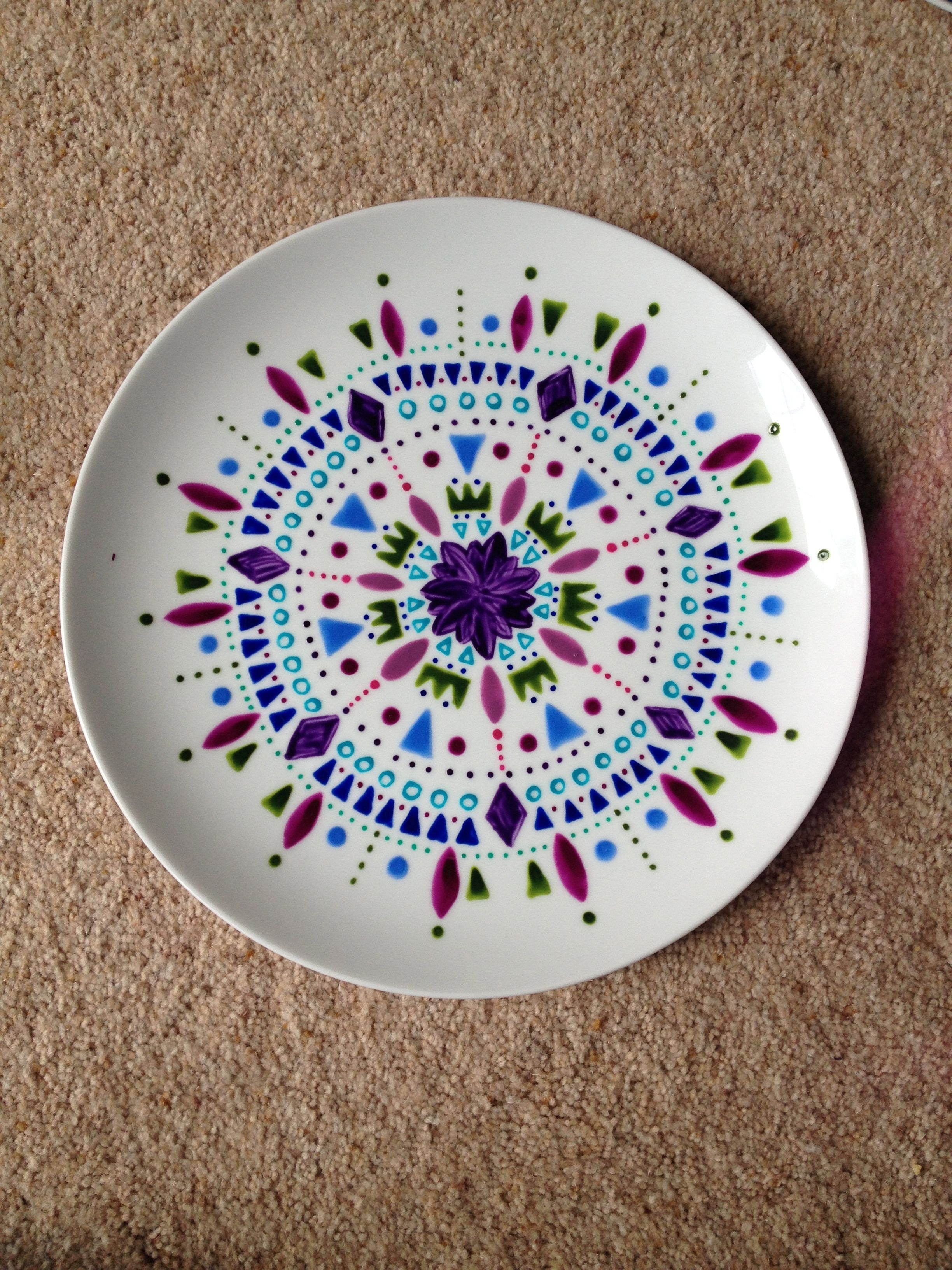 Hand painted plates More