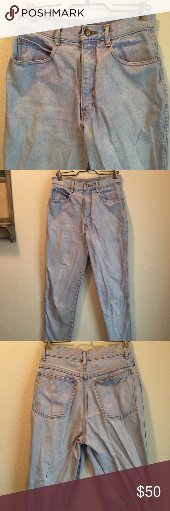 Vintage Rio Mom Jeans Vintage Jeans Rio High Waisted Mom Jeans Size 9 100 Cotton These Jeans Are Vintage So They May Have Some Wear Character On
