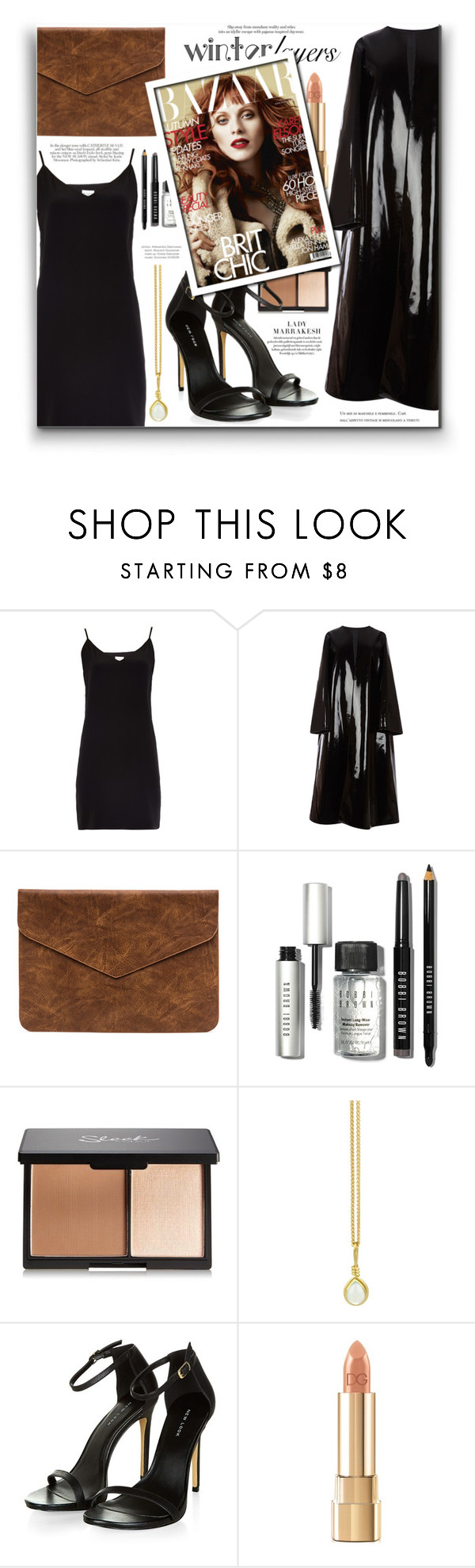 """Winter Layers: Slip Dress"" by fernandamaverick ❤ liked on Polyvore featuring Raey, Emilia Wickstead, Bobbi Brown Cosmetics, Prism Design, Dolce&Gabbana, women's clothing, women's fashion, women, female and woman"