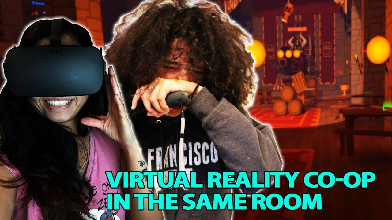 Playing Rec Room's Quest in the same room with Rift Vive