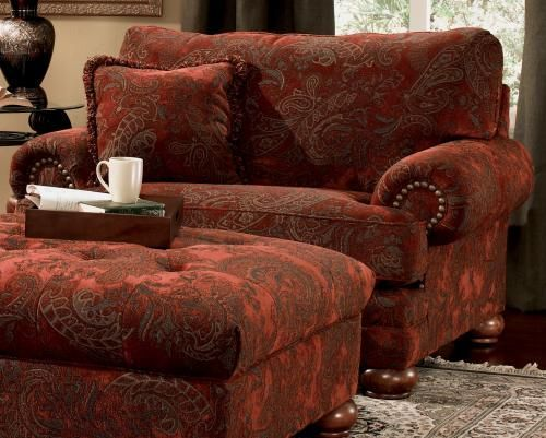 Overstuffed Living Room Furniture - Overstuffed Chair And Ottoman ...
