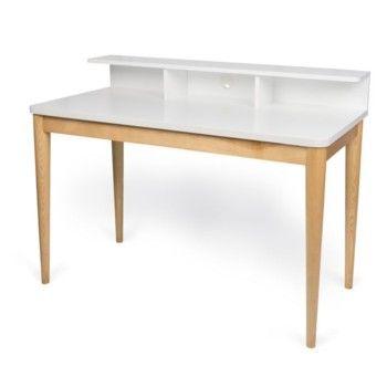 Pracovný stôl Xira Pure White, 120x60x90 cm | Bonami