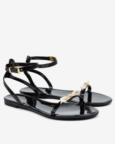 13b367d9b37 Jelly sandals - Black | Shoes | Ted Baker | Shoe lust | Jelly ...