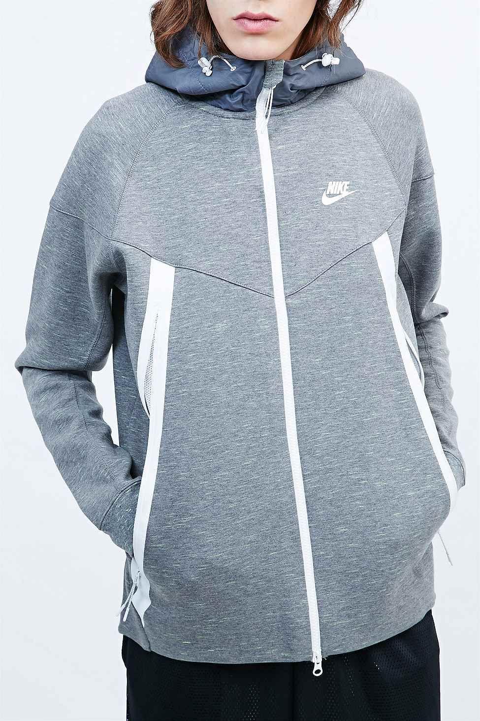 Nike Tech Fleece Super Zip Hoodie in Grey Ropa, Invierno