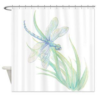 Watercolor Dragonfly Shower Curtain Dragonflies Bathroom
