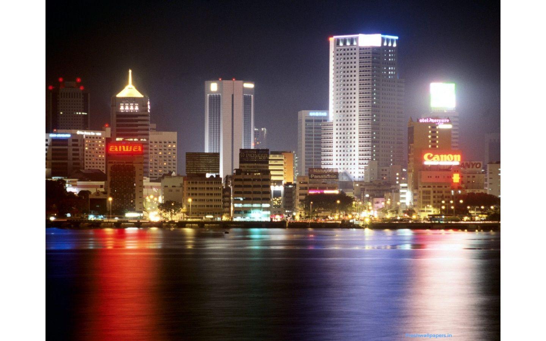 Night View Of Johor Bahru Malaysia Wallpapers