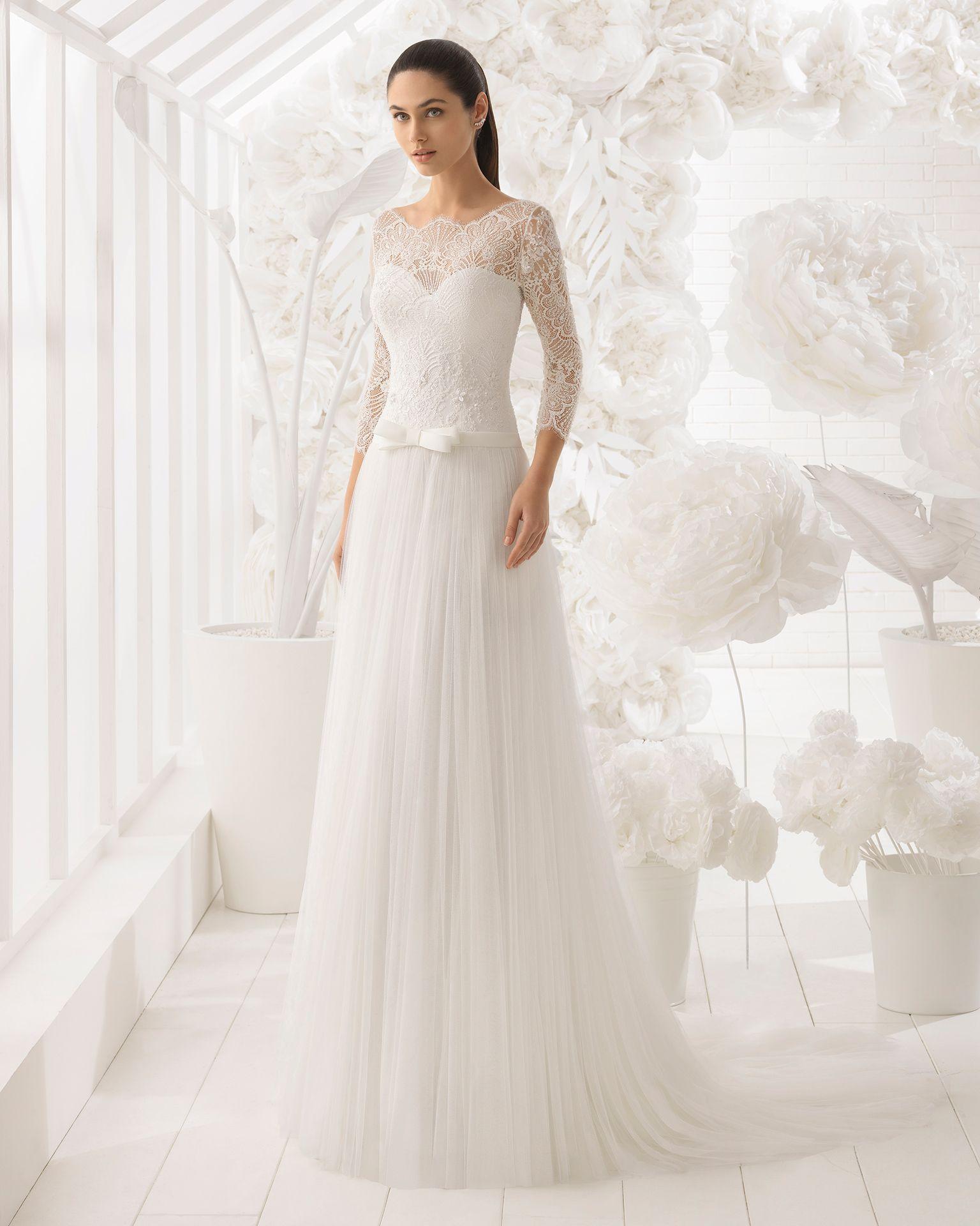 Una mujer vestida de novia