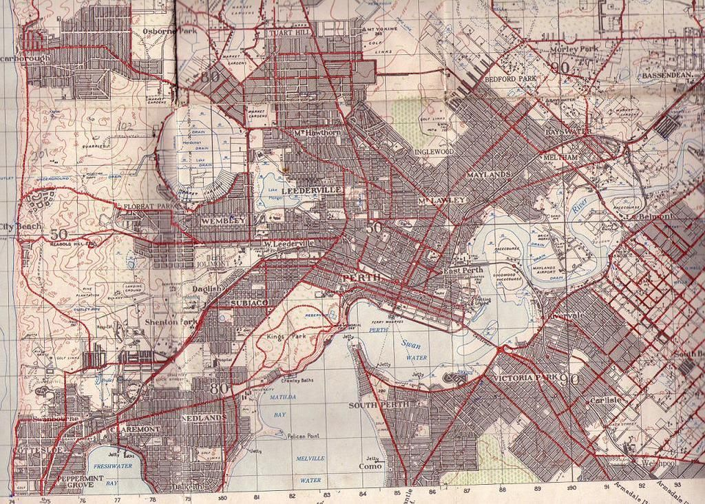 Image result for historical map perth australia