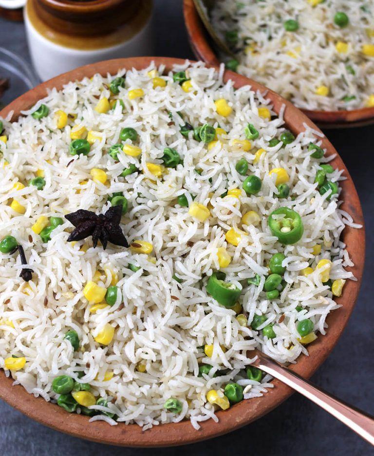 Ghee Rice | Recipe | Green peas recipes, Rice recipes ...