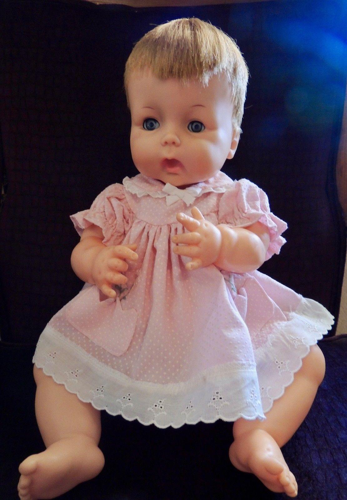 Vintage 1961 Horsman Baby Doll 20 Vinyl Thirstee Baby Thirstee Cry Baby Heavy Ebay Baby Dolls Flower Girl Dresses Girls Dresses