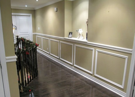 Picture Frame Wainscoting Just Add Frames Put Different Paint
