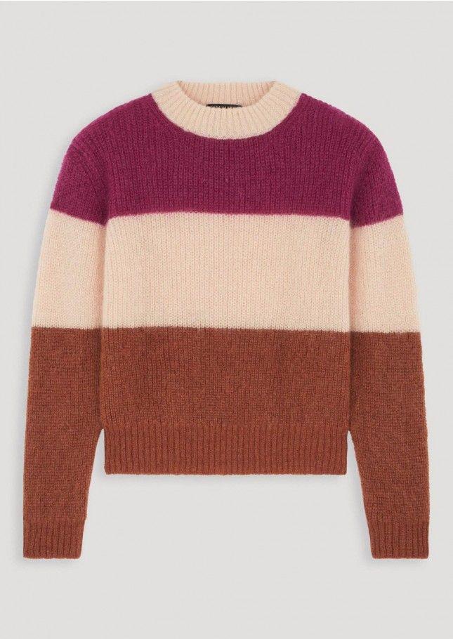 Oversized striped sweater in mohair femme - tara jarmon 3  3f22fc8fa