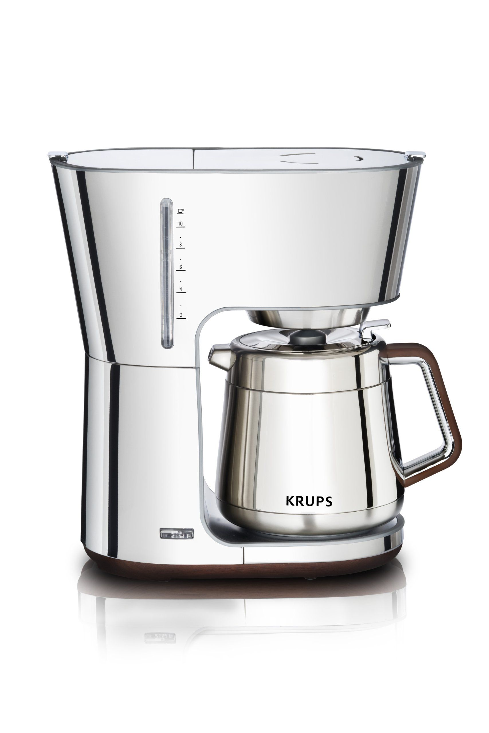 krups kt600 silver art collection thermal carafe coffee maker with chrome stainless steel on kitchen decor pitchers carafes id=71765