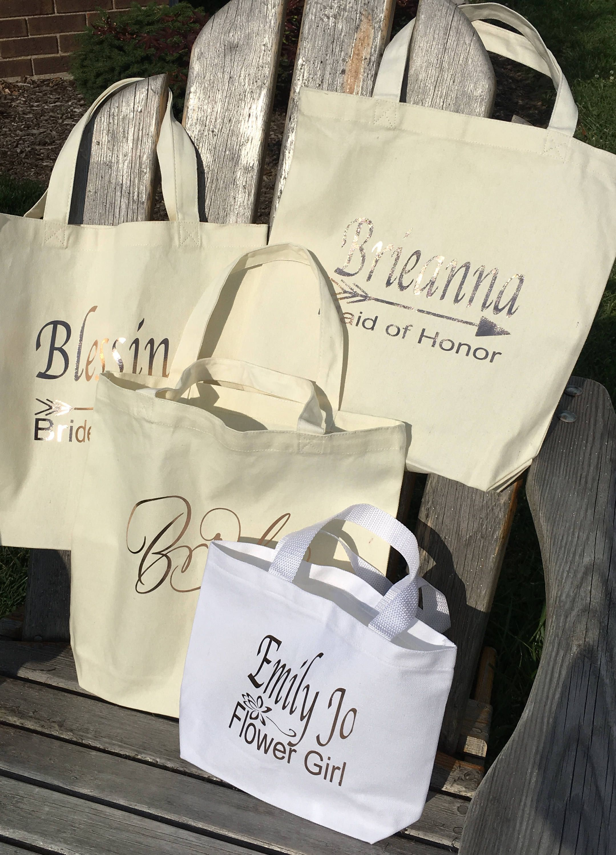 Wedding Tote Bags Wedding Gift Bag Bride Tote Bag Maid Of