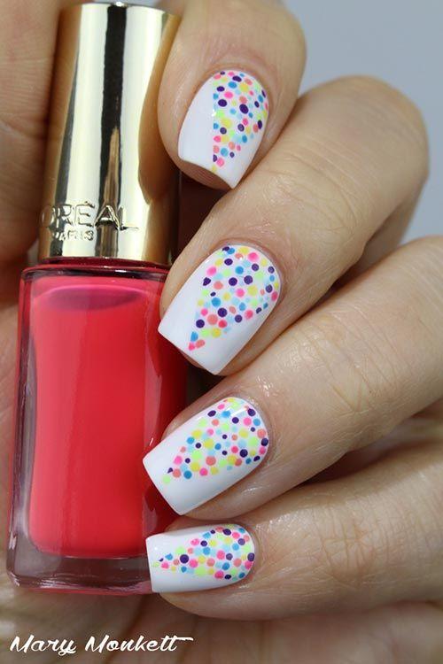 5. Colorful Holi Nail Art - Simple Nail Designs   Hair, nails ...
