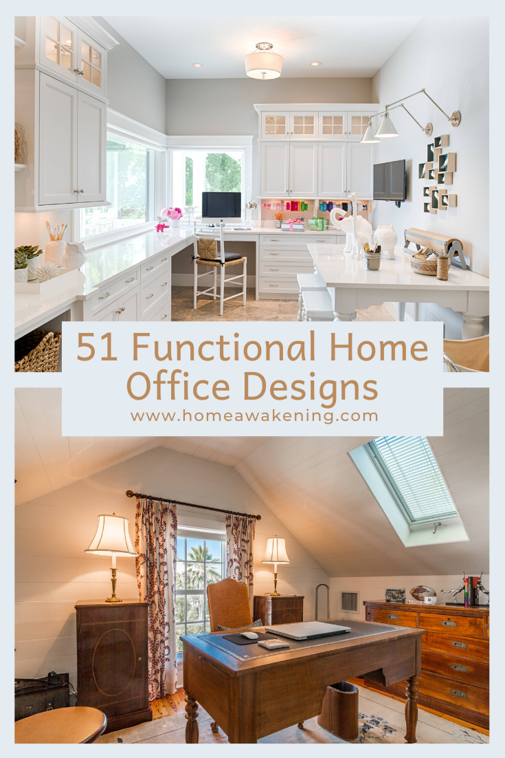 51 Functional Home Office Designs In 2020 Home Home Office Design Home Office Space