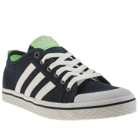 new styles f0a64 7c34a ... professional sale b78c9 acccf womens adidas navy white honey low  stripes trainers ...