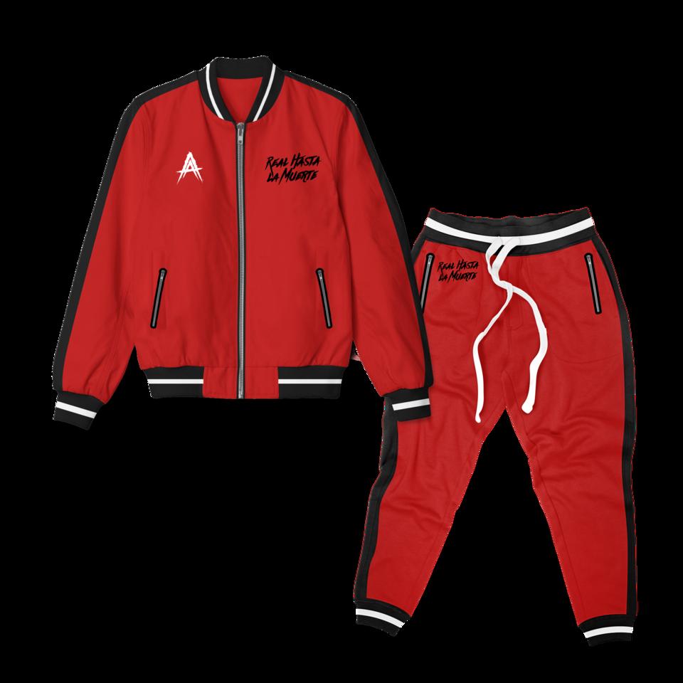 Red Real Hasta La Muerte Tracksuit Tracksuit Tops Tracksuit Athletic Jacket