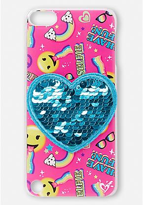f132bcdf4d Flip Sequin Emoji iPod Touch Case | Tech Fun! in 2019 | Emoji phone ...