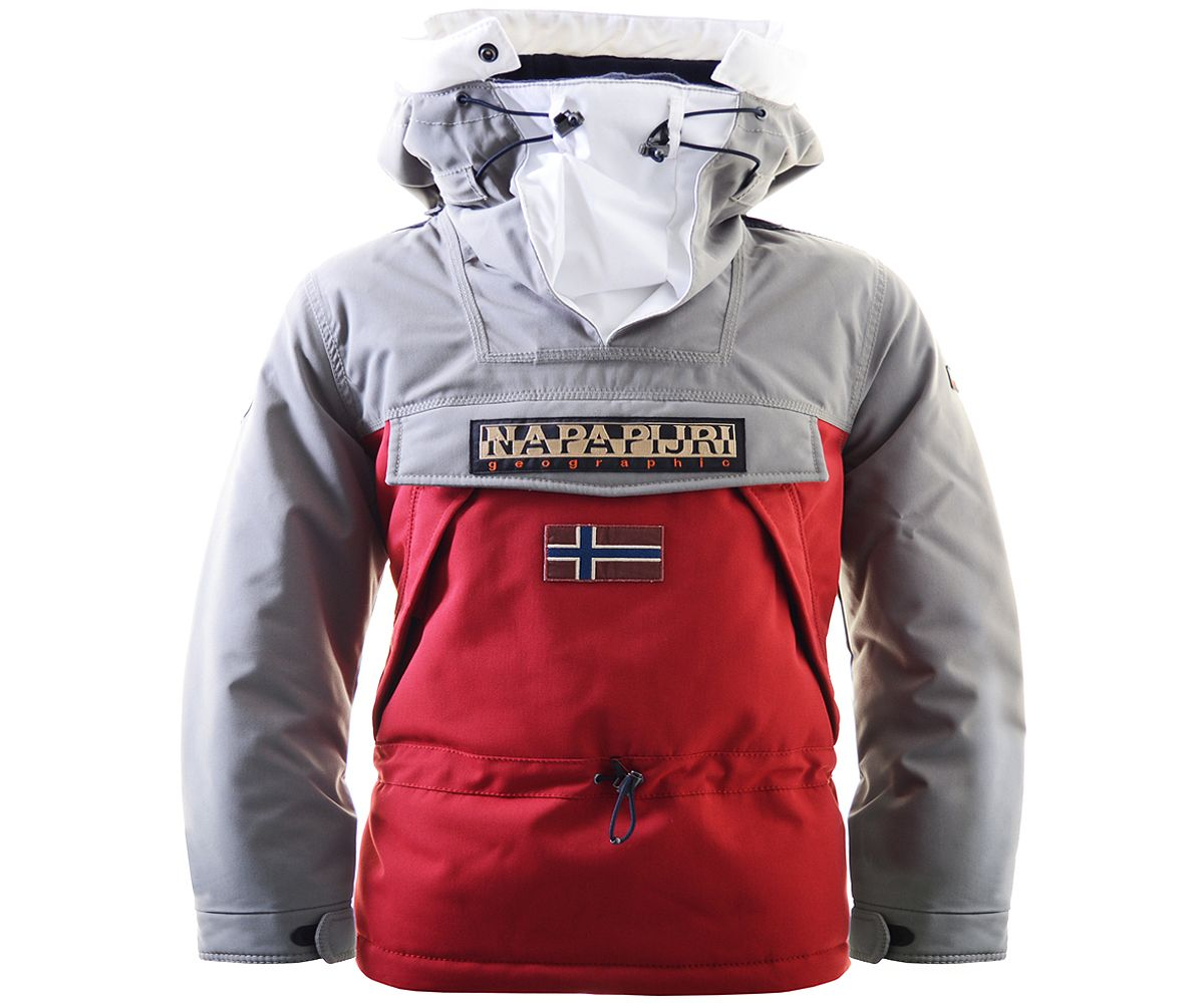 Features padding throughout for warmth and fleece lining to neck and hood.  Two side zip