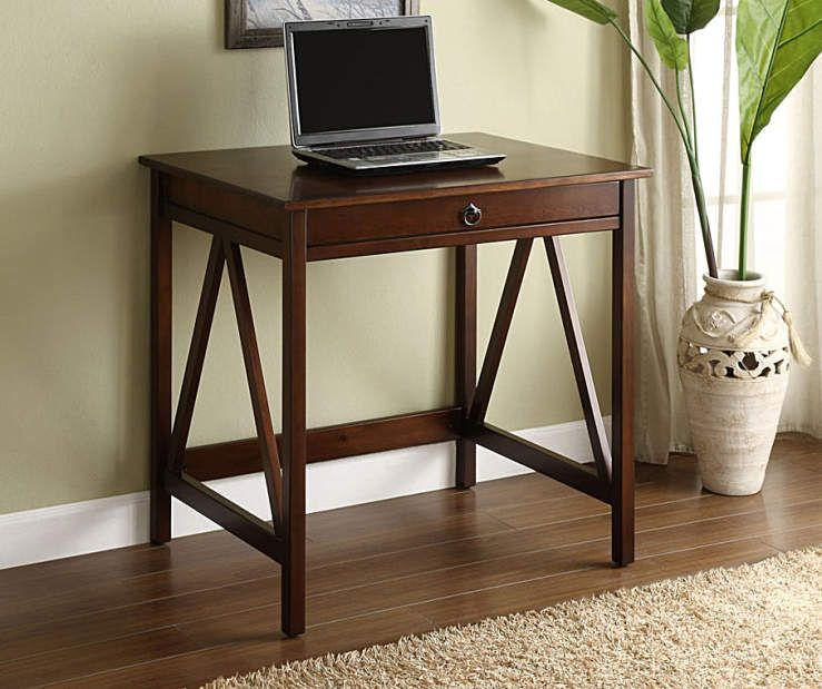 I Found A Antique Dark Brown Small Writing Desk At Big Lots For Less Find More At Biglots Com Small Writing Desk Linon Home Decor Laptop Desk