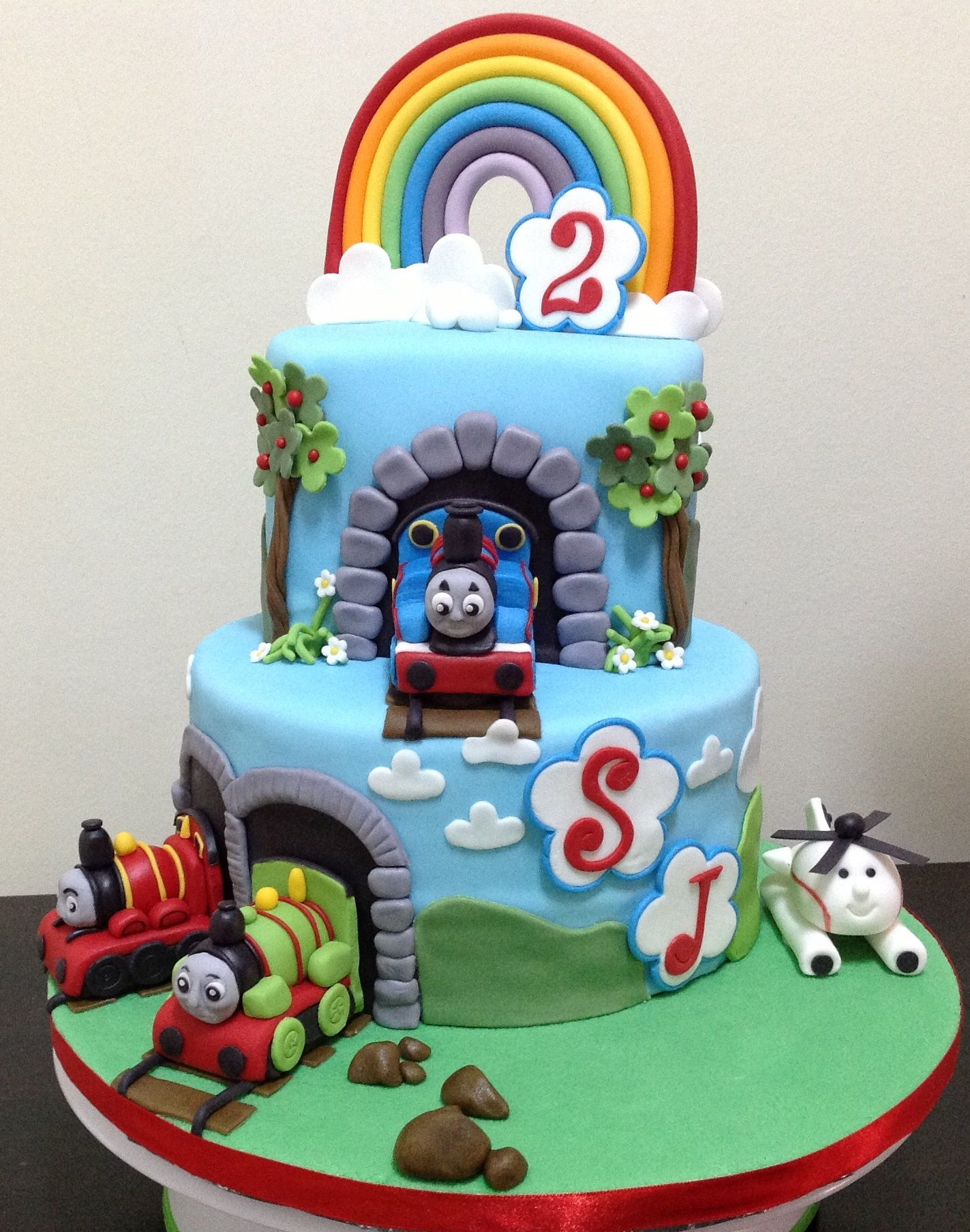 Thomas The Tank Engine 2nd Birthday Cake