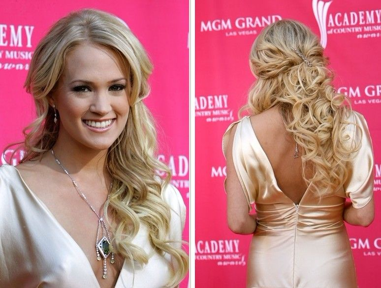 Wedding Hairstyles For Long Curly Hair Updos : Carrie underwood half up down hairstyles prom pinterest
