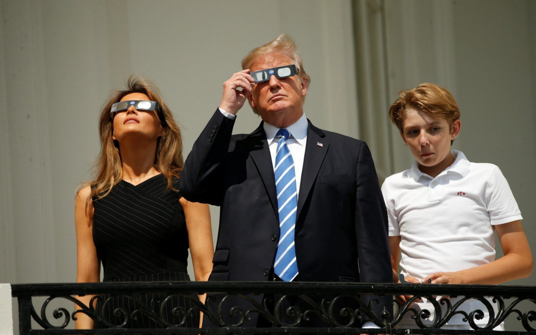 The First Family Watching The Solar Equclipse Monday August 21